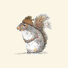 Squirrel with an Acorn Hat by Dan Tabata