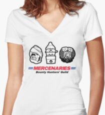 Mercenaries 2 Women's Fitted V-Neck T-Shirt