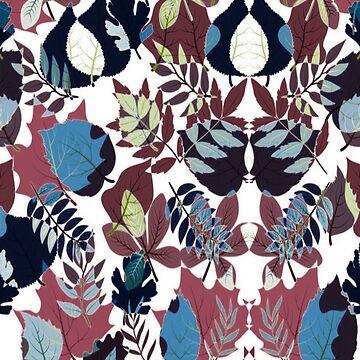 Pattern for leafy ornamentation by talalbalwi
