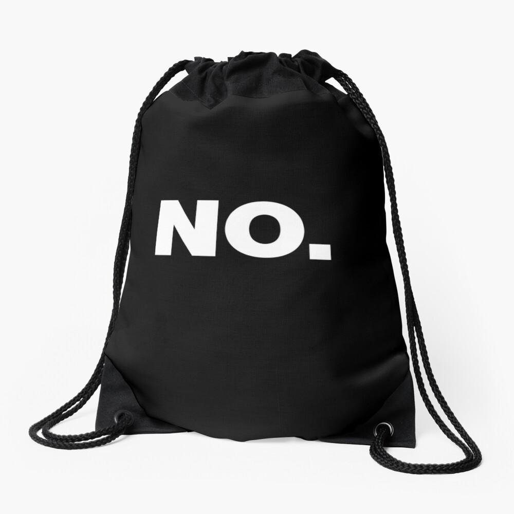 NO Office Introvert Grumpy Design Drawstring Bag