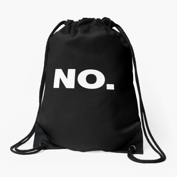 NO Office Introvert Grumpy Design Drawstring Bag