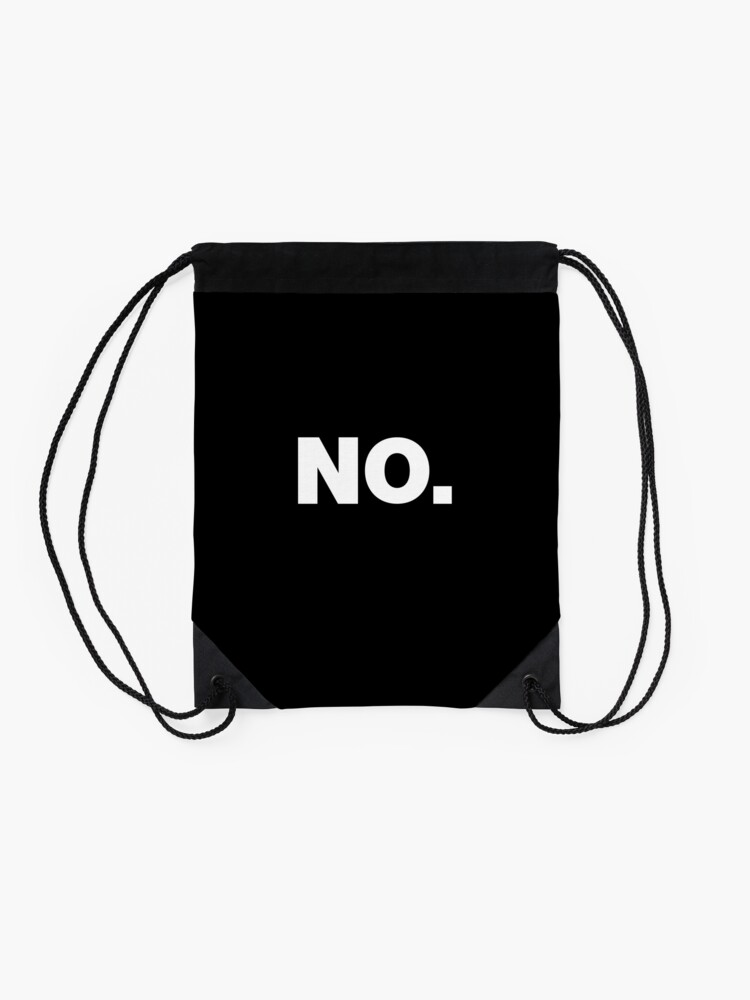 Alternate view of NO Office Introvert Grumpy Design Drawstring Bag