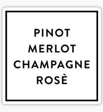 Pinot Merlot Champagne Rosé Sticker