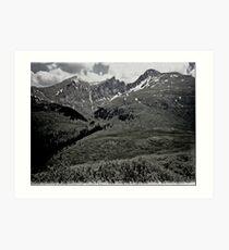 Black Rockie Mountains Art Print