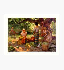 Die Fruit Pickers unter dem Mangobaum Kunstdruck