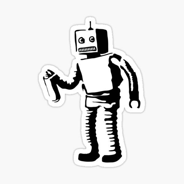 robot by Banksy Sticker