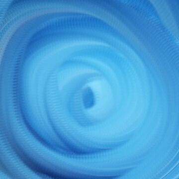 blue mono color scheme  abstract spiral art  by KIRART