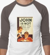 Early 20th Century Educational Promotional Poster Men's Baseball ¾ T-Shirt