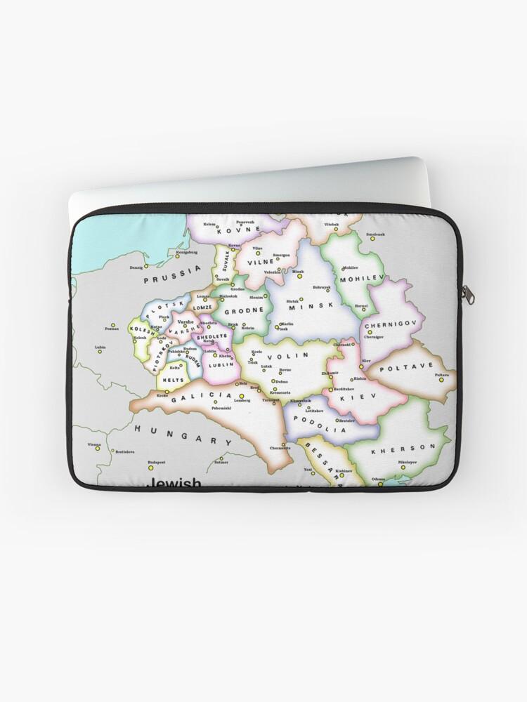 Map: Jewish Eastern Europe 1830-1914 | Laptop Sleeve