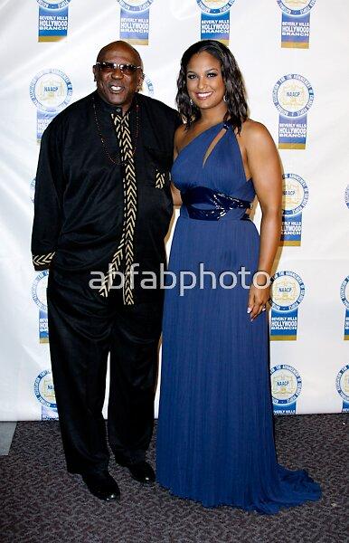 Laila Ali and Louis Gossett Jr by abfabphoto