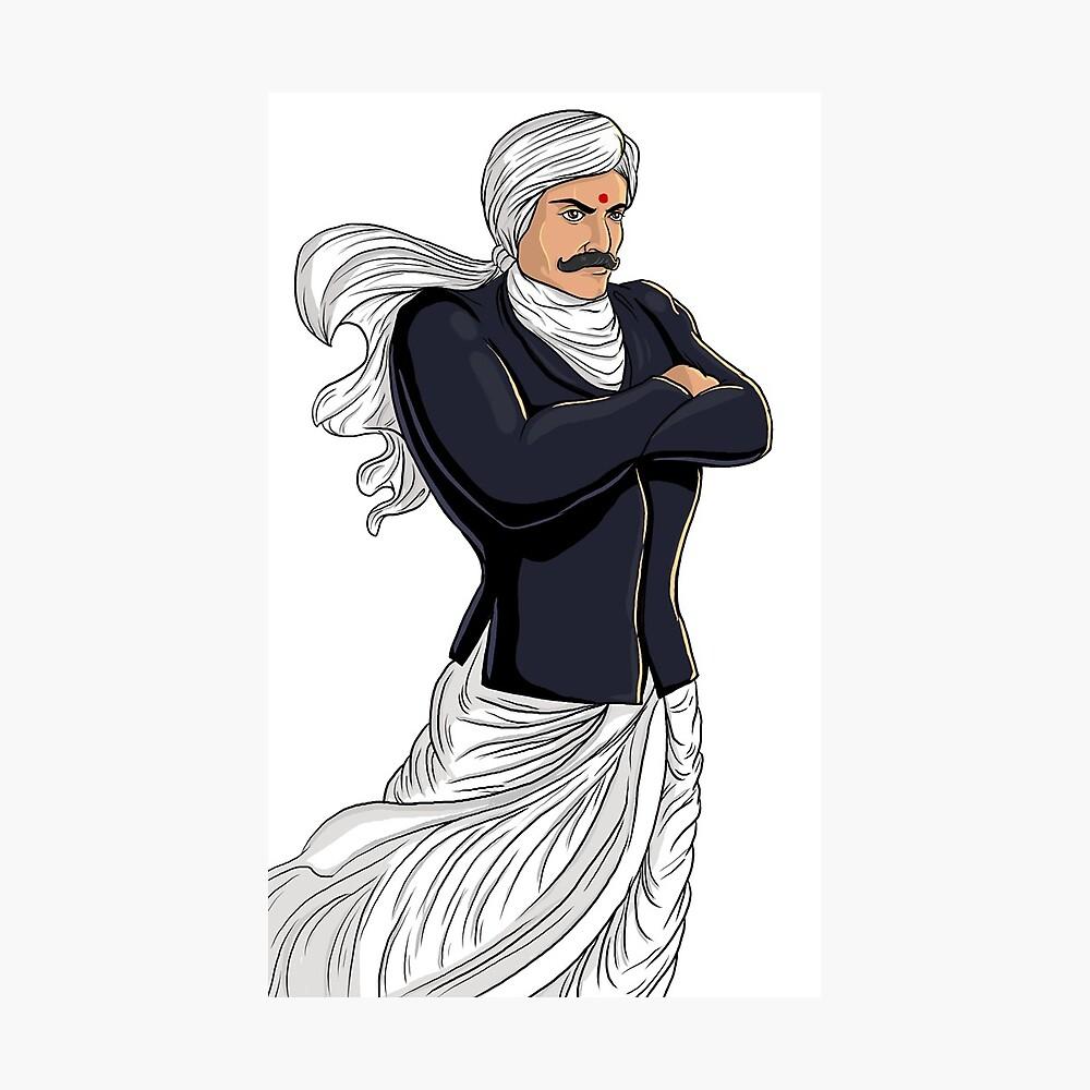 Tamil poet bharathiar photographic print