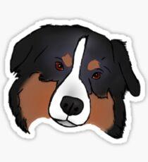 Black Tricolor Australian Shepherd Sticker