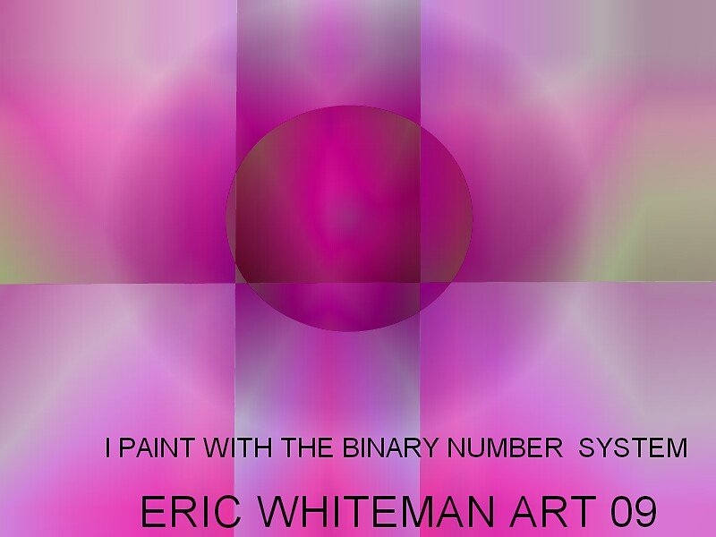 I  PAINT WITH THE BINARY  NUN+MBER SYSTEM ) ERIC WHITEMAN  by ericwhiteman