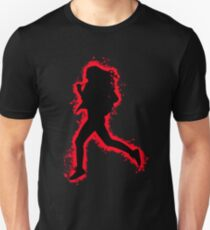 Silhouette fit red and black silhouette Unisex T-Shirt