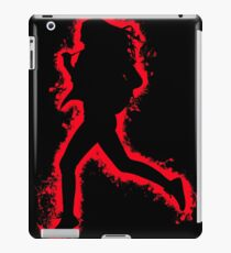 Silhouette fit red and black silhouette iPad Case/Skin