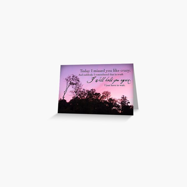 I Will Hold You Again Greeting Card