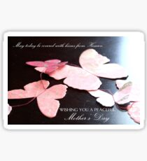 Kisses from Heaven on Mother's Day  Sticker