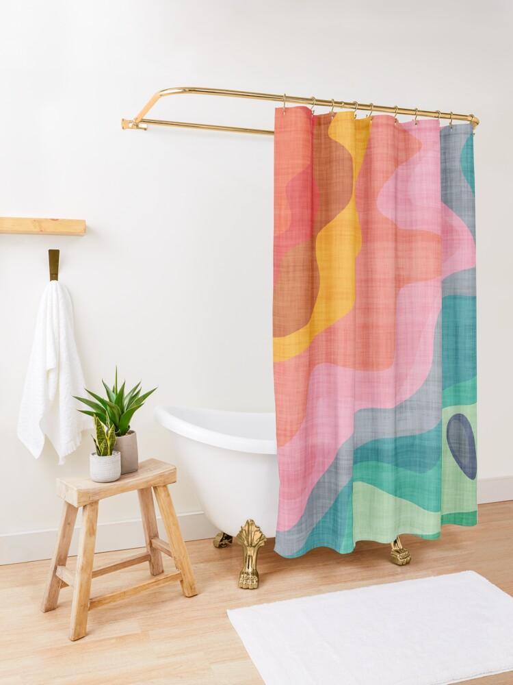 Alternate view of Flouncy Flouncy Shower Curtain