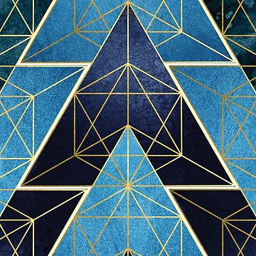 Geometric Excellence in Blue by UrbanEpiphany