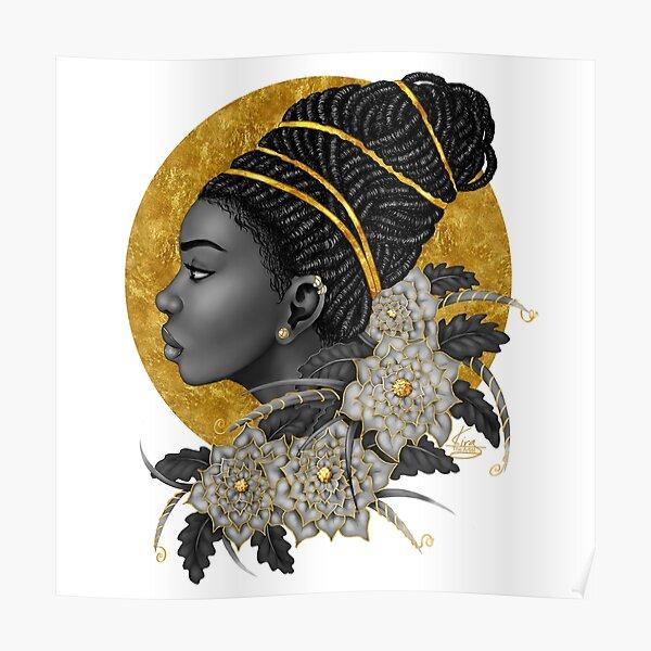 Golden   Black Woman Art Poster