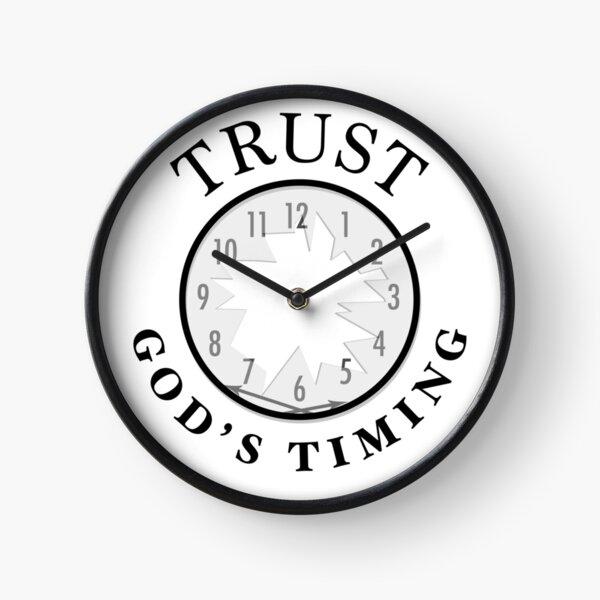 Trust God's Timing (Light) Clock
