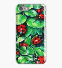 Ladybugs in the Hedge iPhone Case/Skin