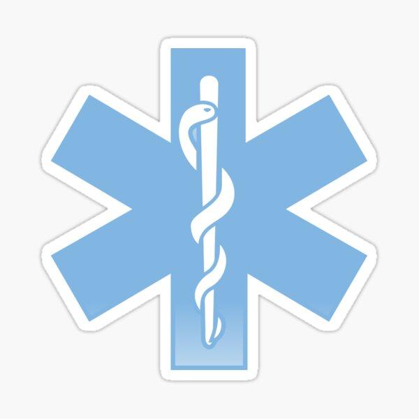 VRS HEART BEAT LINE STAR OF LIFE EMT Ambulance Medical No Snake CAR METAL DECAL