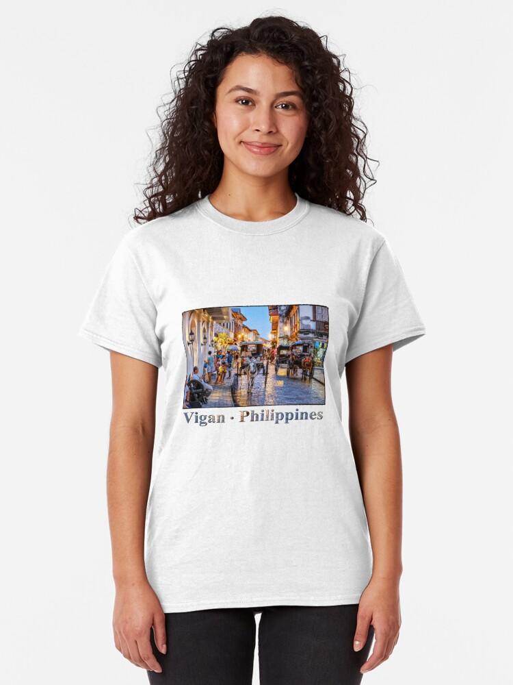 Alternate view of Rush Hour in Vigan City Classic T-Shirt
