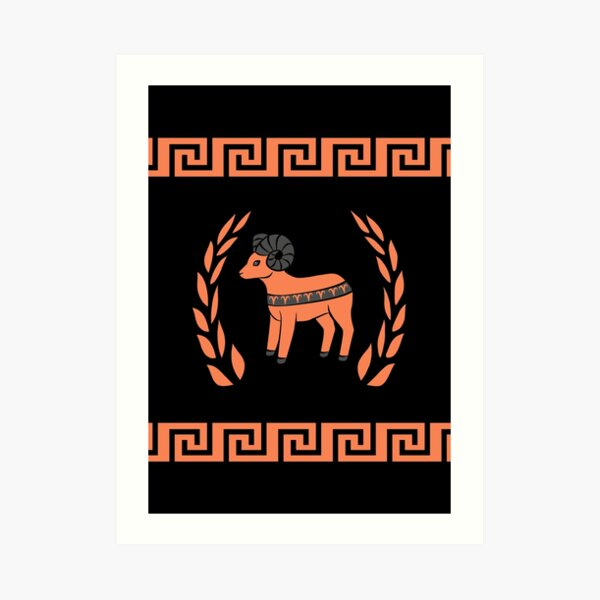 Greek Inspired Aries Art Print