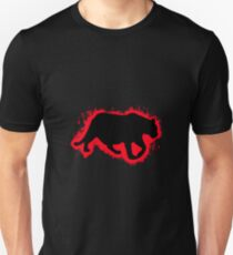 Tiger cat red and black silhouette Unisex T-Shirt
