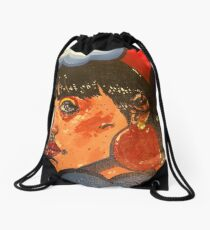 Rainbow eyes Drawstring Bag