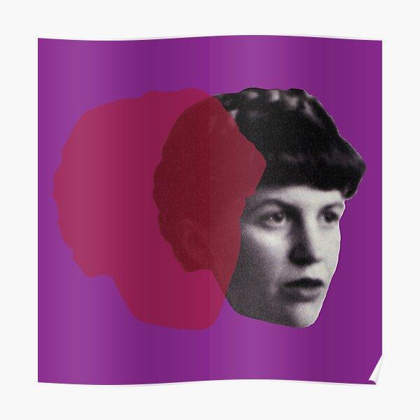 Sylvia Plath portrait Poster
