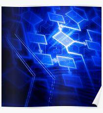 Abstract software algorithm flowchart art photo print Poster