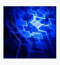 Abstract software algorithm flowchart art photo print Photographic Print