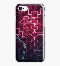 Abstract Algorithm Flowchart Background art photo print iPhone Case/Skin