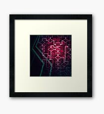 Abstract Algorithm Flowchart Background art photo print Framed Print