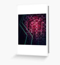 Abstract Algorithm Flowchart Background art photo print Greeting Card