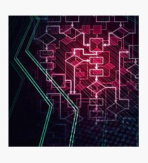 Abstract Algorithm Flowchart Background art photo print Photographic Print