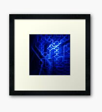 Flowchart algorithm diagram background art photo print Framed Print