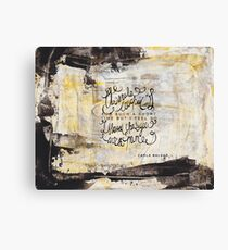 Our souls touched for such a short amount of time Canvas Print