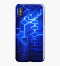 Flowchart algorithm diagram background art photo print iPhone Case/Skin