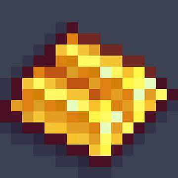 Pixel Gold Bars B by BenHenry