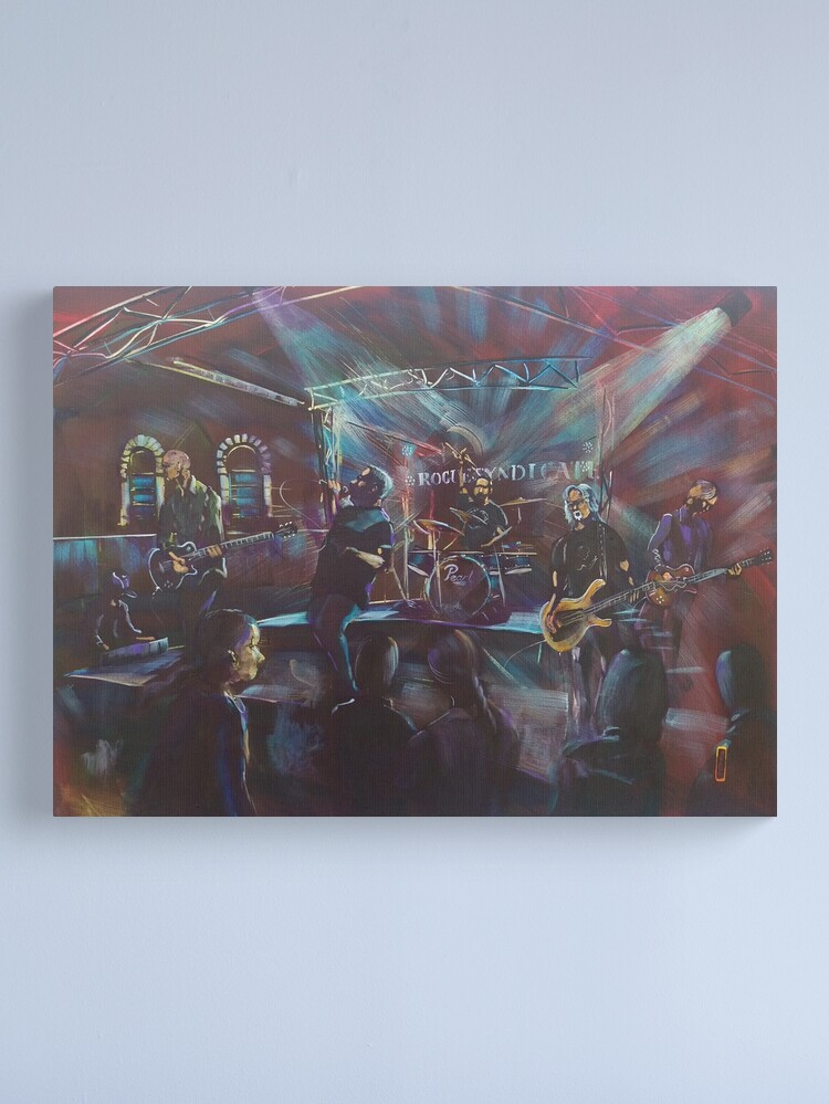Alternate view of Rogue Syndicate live at Tates Hawkesbury Hotel Canvas Print