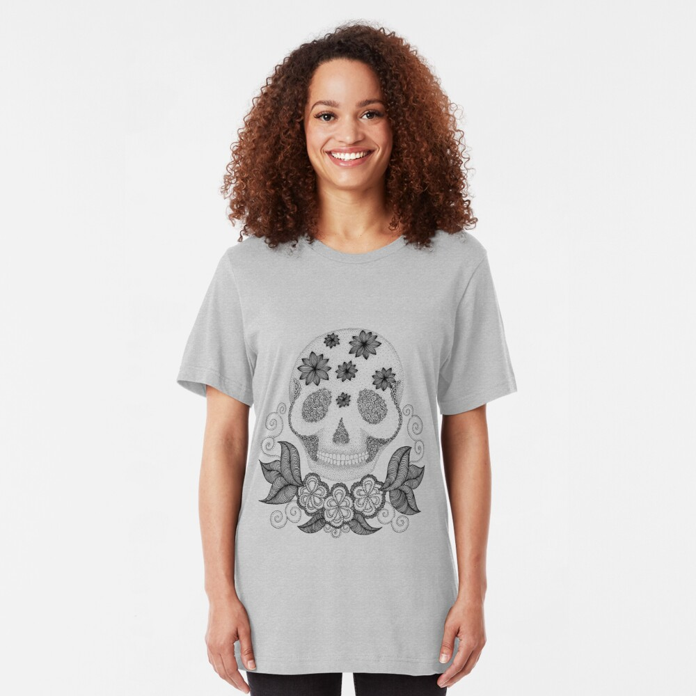 Dot Dot Skull Slim Fit T-Shirt