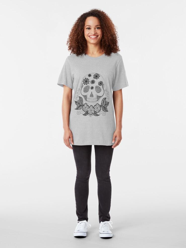 Alternate view of Dot Dot Skull Slim Fit T-Shirt