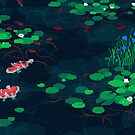 Koi Fish Pixel Pond by Eag2000