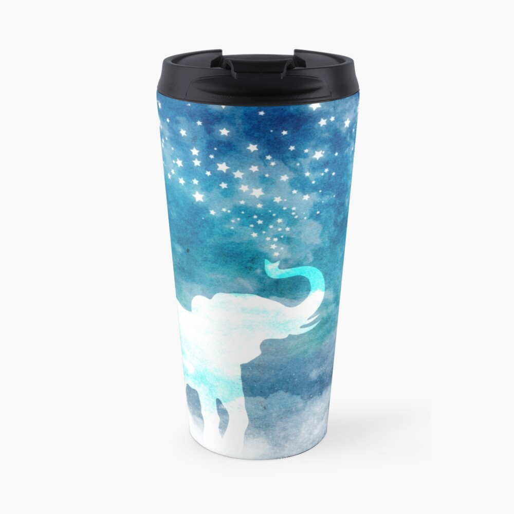 Magical Elephant Spouting Stars Travel Mug