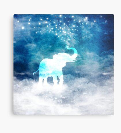 Magical Elephant Spouting Stars Metal Print