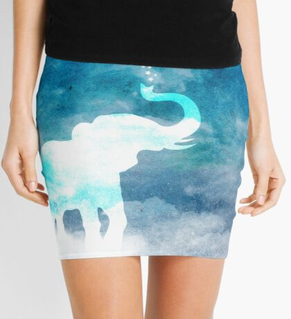 Magical Elephant Spouting Stars Mini Skirt