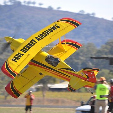 Mudgee Airshow 2018-Pitts knife edge low by muz2142